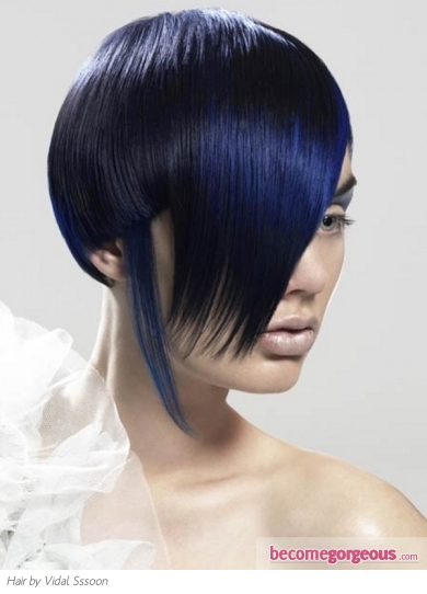 Funky Blue Hair Highlights