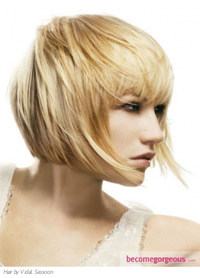 Pictures Medium Long Hairstyles Blonde Bob Hair Style