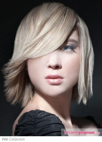 Glam Medium Layered Hair Style
