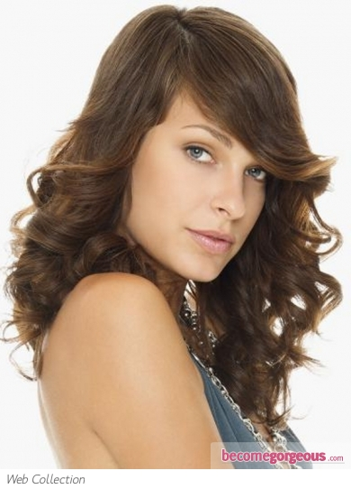 Glossy Long Curly Hair Style