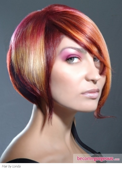 Vibrant Hair Highlights Idea
