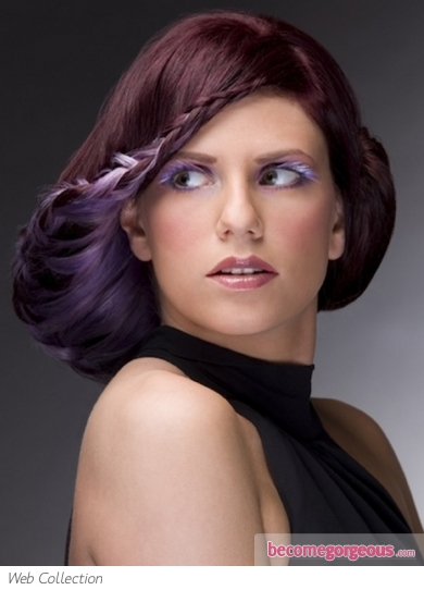 Pictures : Hair Highlights Ideas - Chic Purple Hair Highlights Idea