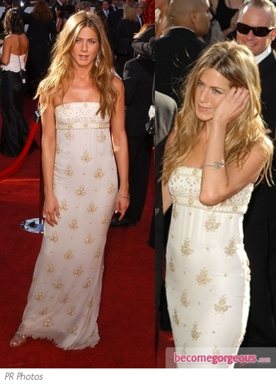 Jennifer Aniston in Chanel Couture Beaded Gown