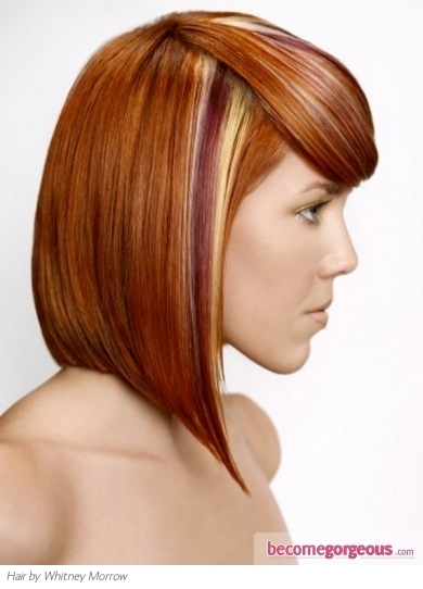 Red Hair and Colorful Highlights