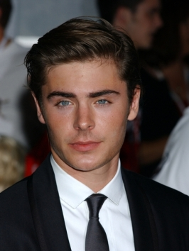 Zac Efron's Brushed Back Hairstyle