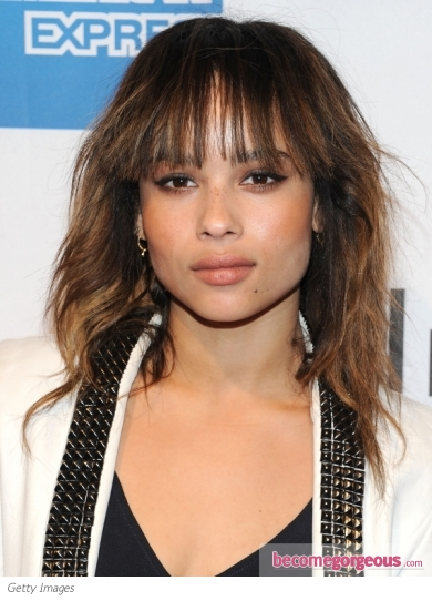 Zoe Kravitz Medium Layered Hairstyle