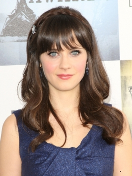 Zooey Deschanel Hairstyle with Braid