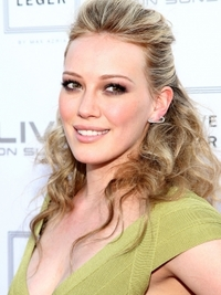 Hilary Duff's Curly Half Updo