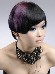 Two-Tone Purple Hair Color