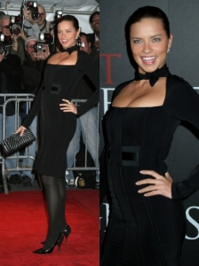 Adriana Lima in Black Dress