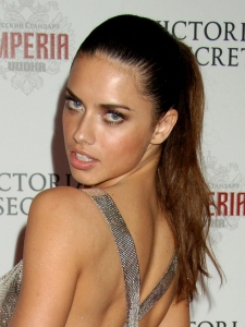 Adriana Lima with High Ponytail Hairstyle