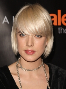 Agyness Deyn's Bob Haircut with Bangs