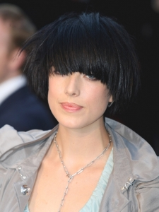 Agyness Deyn Black Bowl Bob Hairstyle