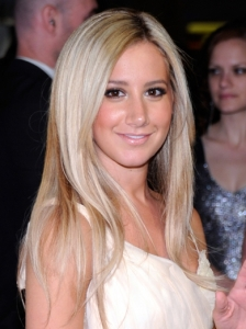 Ashley Tisdale Ash Blonde Hairstyle