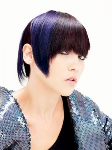 Purple Bangs Hair Style