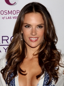 Alessandra Ambrosio Brown Curly Hairstyle
