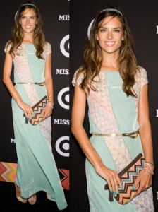 Alessandra Ambrosio Missoni Knit Long Dress