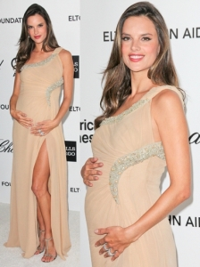 Alessandra Ambrosio in Cavalli One Shoulder Gown