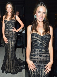 Alessandra Ambrosio in Zuhair Murad Lace Gown