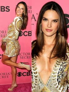 Alessandra Ambrosio in Balmain Beaded Dress