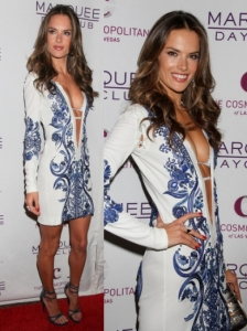 Alessandra Ambrosio in Pucci Embroidered Dress