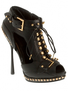 Alexander McQueen Studded Lace-Up Ankle Boots