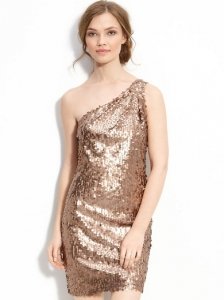 Alexia Admor One Shoulder Sequin Dress