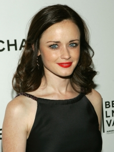 Alexis Bledel Soft Curly Hairstyle