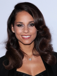 Alicia Keys Retro Curls Hairstyle