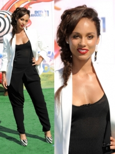 Alicia Keys in Dolce & Gabbana Pant Suit