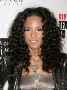 Alicia Keys Spiral Curls Hairstyle