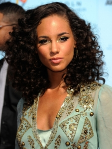 Alicia Keys Natural Curly Hairstyle