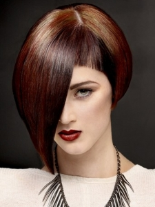 Glam Medium Two Tone Bob Haircut