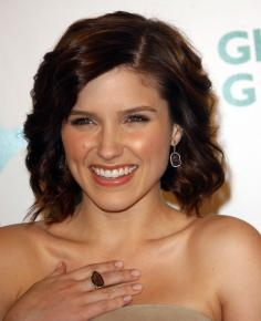 Sophia Bush with Wavy Bob Hairstyle