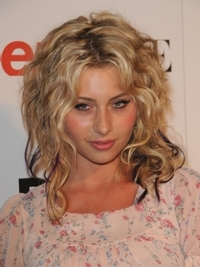 Aly Michalka Tousled Curly Hairstyle
