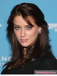 Amber Heard with Brown Hair Color