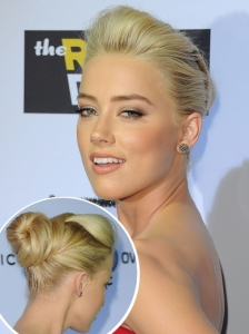 Amber Heard Sculpted Updo
