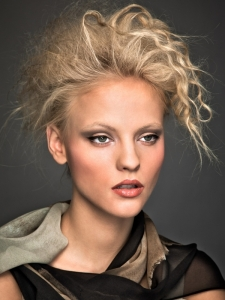 Glamorous Messy Updo Hairstyle