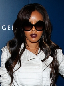 Angela Simmons Shiny Waves Hairstyle