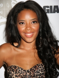 Angela Simmons Long Curly Hairstyle