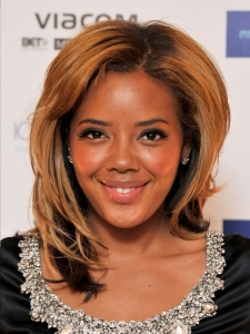 Angela Simmons Shoulder-Length Hairstyle