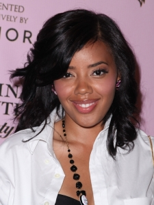 Angela Simmons Shoulder Length Hairstyle