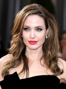 Angelina Jolie's Hairstyle from the 2012 Oscars