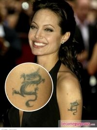 Angelina Jolie Upper Arm Tattoo