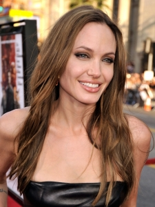 Angelina Jolie Long Textured Hairstyle