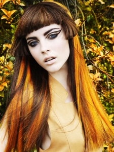 Gorgeous Orange Hair Highlights