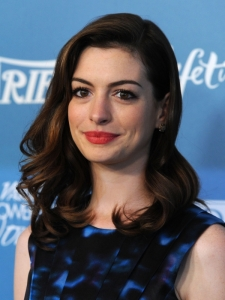 Anne Hathaway Glam Curly Hairstyle