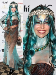 Anneka Swenska in Mermaid Halloween Costume