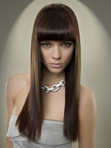 Super-Sleek Long Hair Style