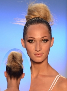Fluffy Top Knot Bun at Aqua Di Lara